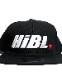 "HiBowL Snap Back Cap ""HiBL"" ブラック×ホワイト×レッド [hi-bcp-007]"