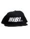 "HiBowL Snap Back Cap ""HiBL"" ブラック×ホワイト [hi-bcp-007]"