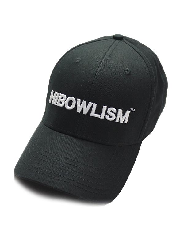 """HiBowLクラシックベースボールキャップ """"ISM"""" ブラック [hi-cbbc-002]"""