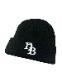 "HiBowL Knit Cap ""HB"" ブラック [Hi-knc-004]"