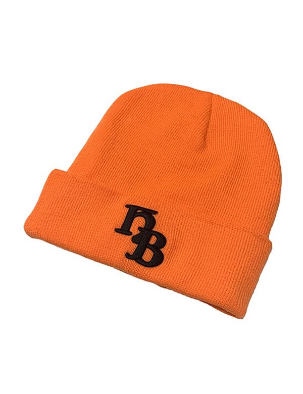 "HiBowL Knit Cap ""HB"" オレンジ [Hi-knc-004]"
