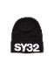 SY32 by SWEET YEARS 3D LOGO KNIT CAP ブラック [7142]