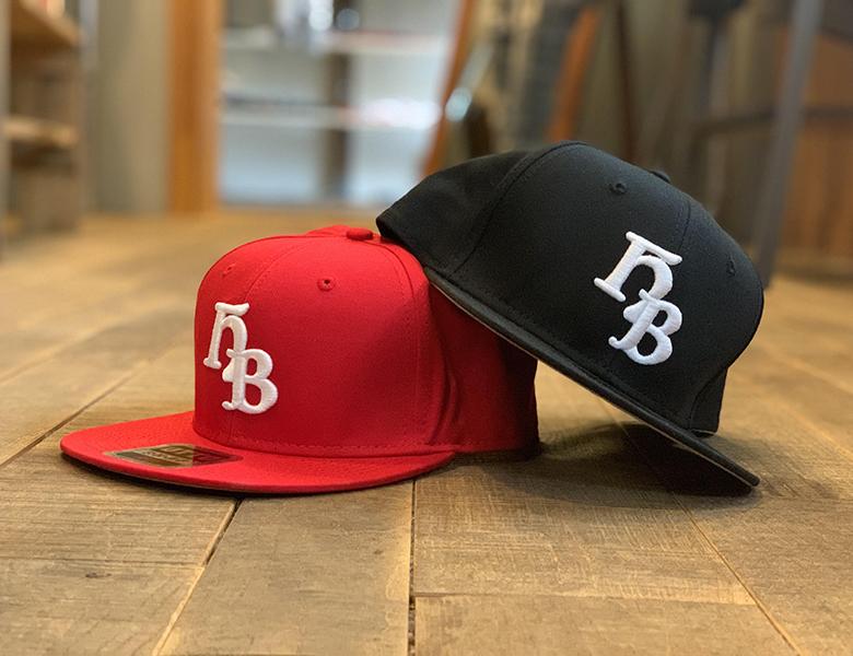 "HiBowL Snap Back Cap ""HB"" ブラック×ホワイト [hi-bcp-006]"