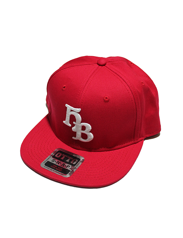 "HiBowL Snap Back Cap ""HB"" レッド [hi-bcp-006]"