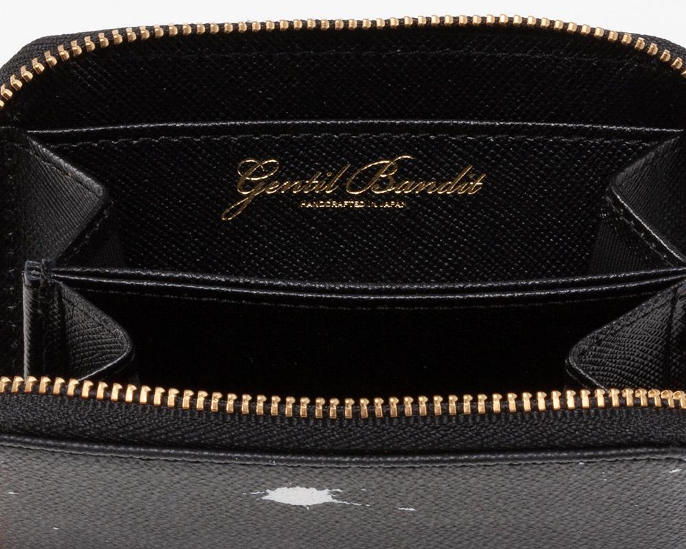 GENTIL BANDIT (ジャンティバンティ)  ラウンドジップミニウォレット ブラックカモ  [GBW1966]