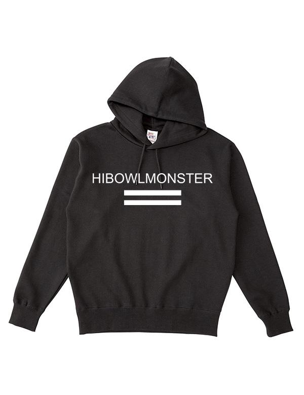 """HiBowLポケットレスパーカー """"MONSTER"""" ブラック×ホワイト  [Hi-phd-9]"""