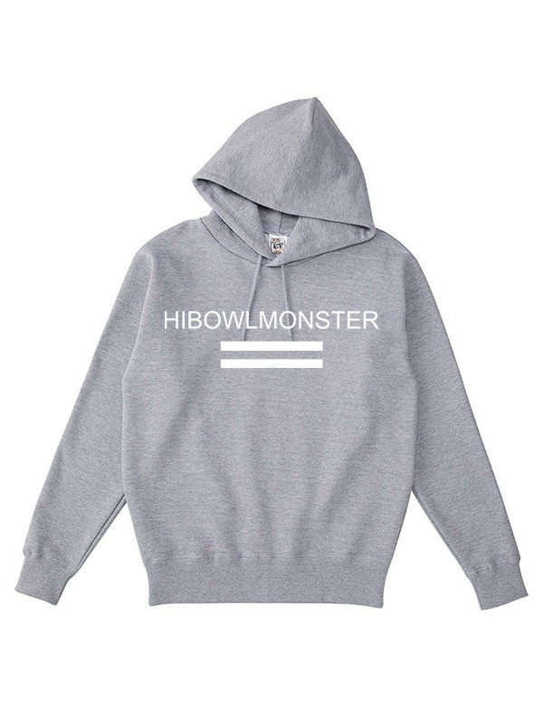 """HiBowLポケットレスパーカー """"MONSTER"""" グレー  [Hi-phd-9]"""