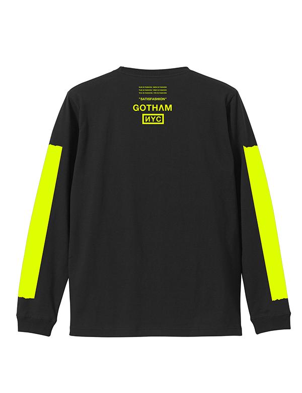 GOTHAM NYC (ゴッサムエヌワイシー)  Long sleeve Tシャツ ブラック×イエロー  [GN701]