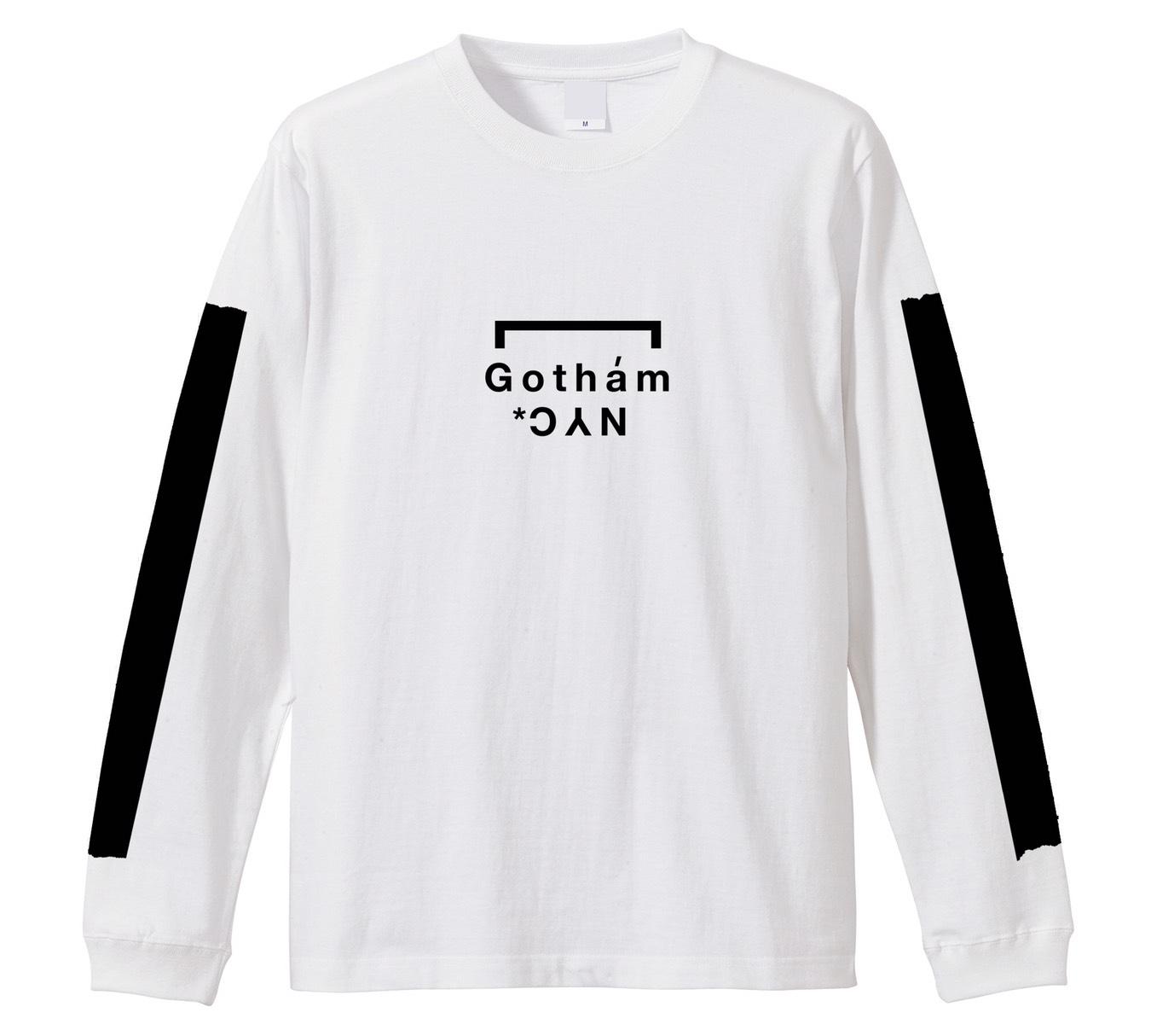 GOTHAM NYC (ゴッサムエヌワイシー)  Long sleeve Tシャツ ホワイト  [GN701]