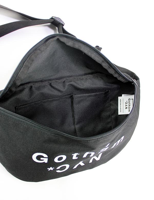 GOTHAM NYC (ゴッサムエヌワイシー)  ウエストバッグ ブラック  [GN174]