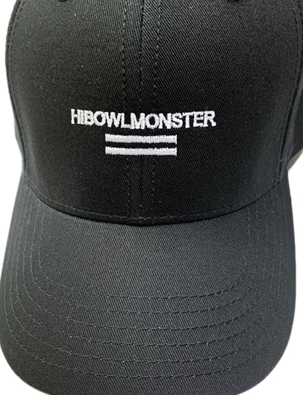 """HiBowLクラシックベースボールキャップ """"MONSTER"""" ブラック [hi-cbbc-003]"""