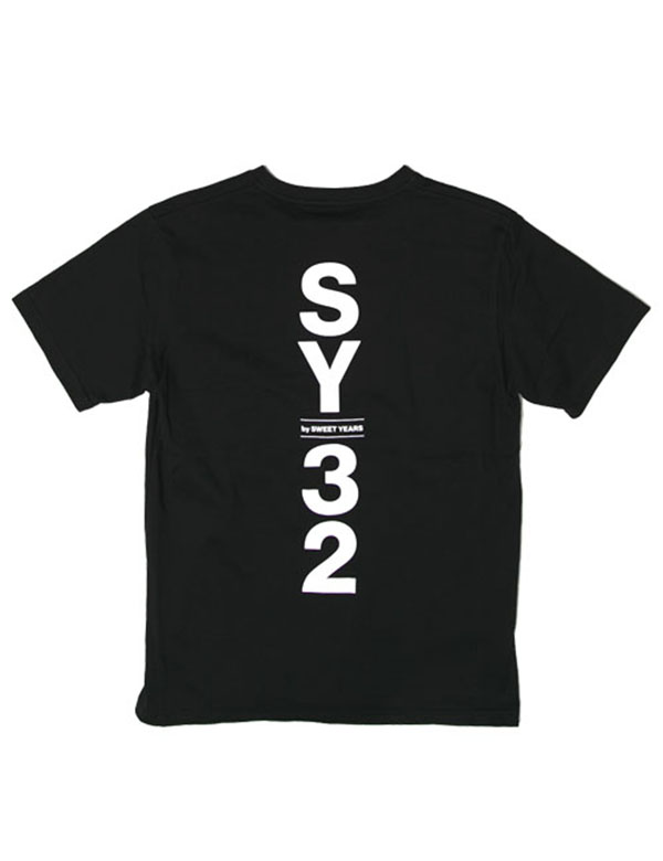 SY32 by SWEET YEARS SHIELD LOGO TEE ブラック [TNS1722J]