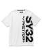 SY32 by SWEET YEARS VERTICAL LOGO TEE ホワイト [TNS1727J]