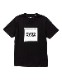 SY32 by SWEET YEARS SQUARE LOGO TEE ブラック [10027J]