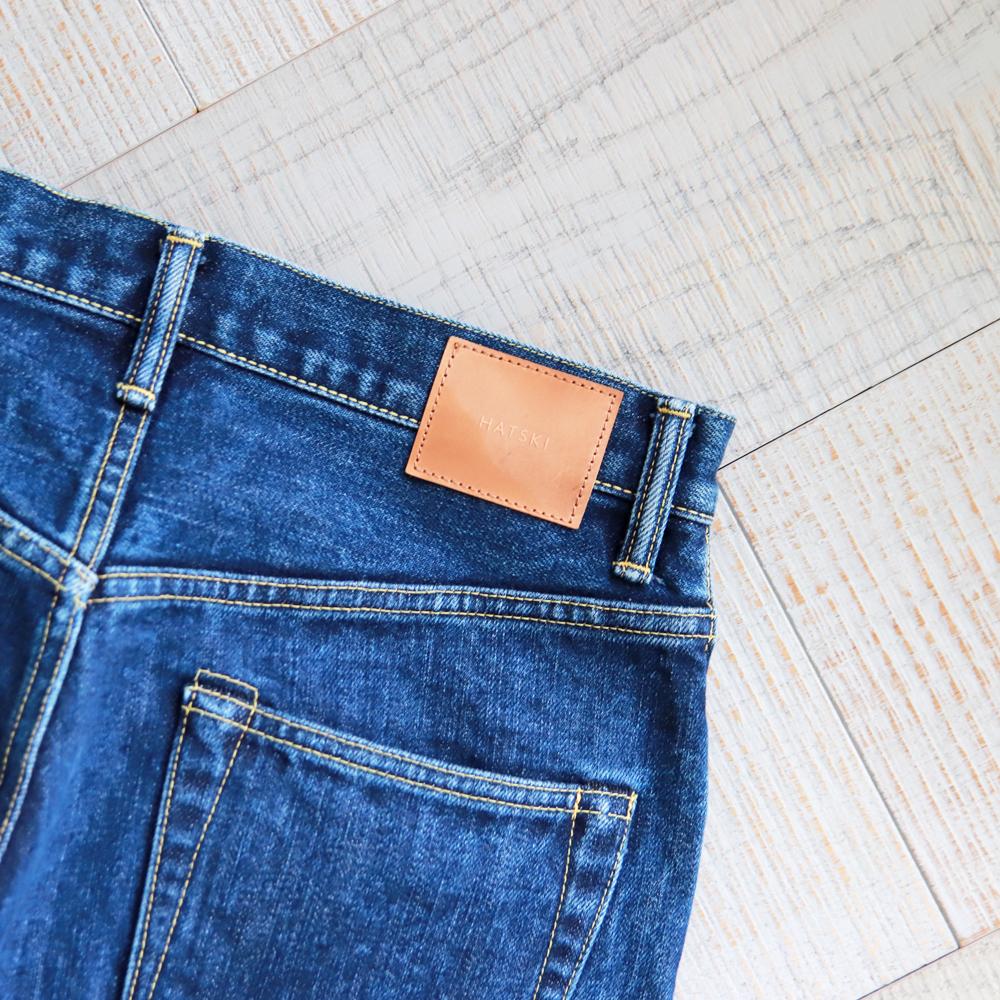 HATSKI Wide Tapered Used Denim -Blue HTK-22003-U