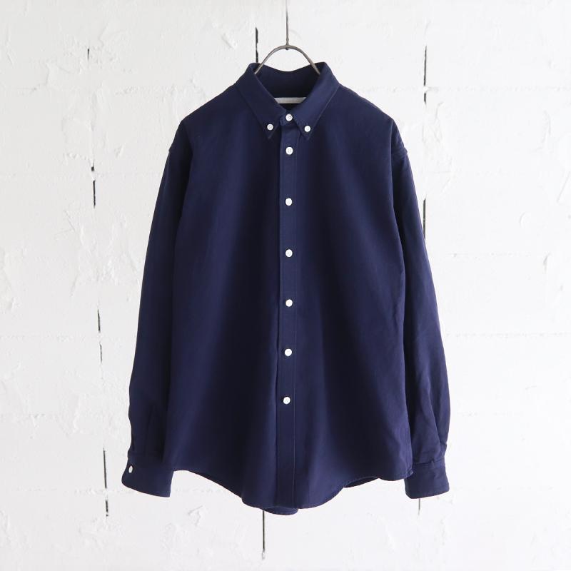HATSKI High-Count B.D. Shirt NAVY
