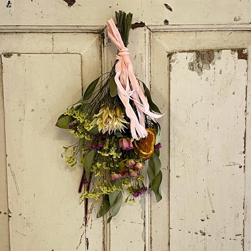 『摘みたてお花』で作ったドライスワッグ(S)