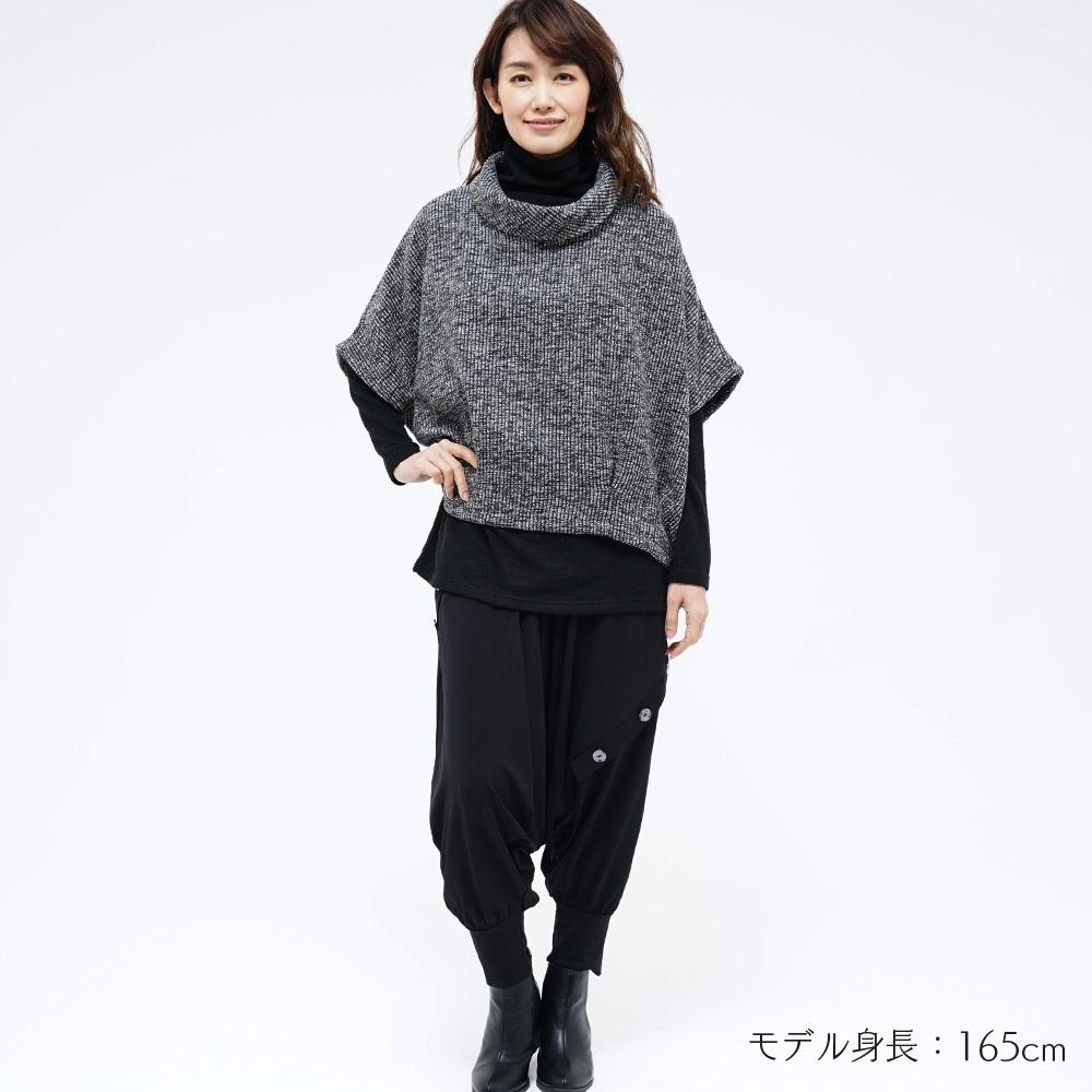 ドルマン ニット トップス ワイド MIX オフタートル ショート丈 koibitomisaki 18-0121