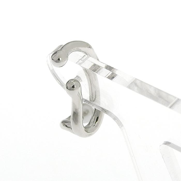シルバーパールフックイヤリング HE-001B