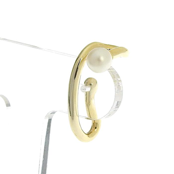 ゴールドパールフックイヤリング HE-002A
