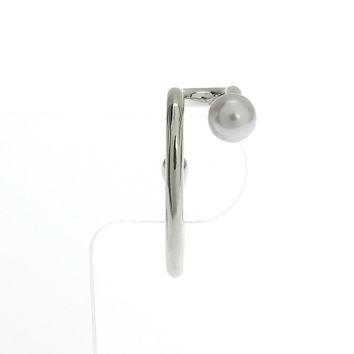 シルバーパールフックイヤリング HE-002B