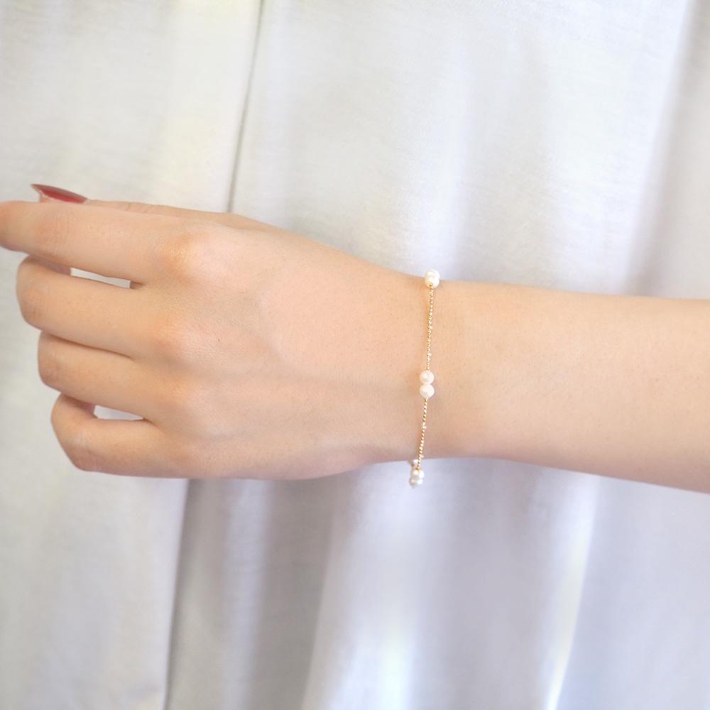 itam(アイタム)- K10淡水パールブレスレット 001 | 金,淡水パール