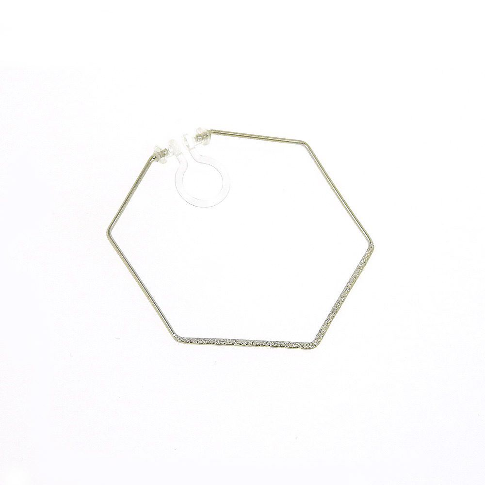 シルバー樹脂ノンホールピアス S-052RH