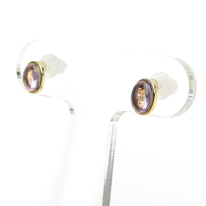 ライトアメジストセラミックポストピアス CP-288B
