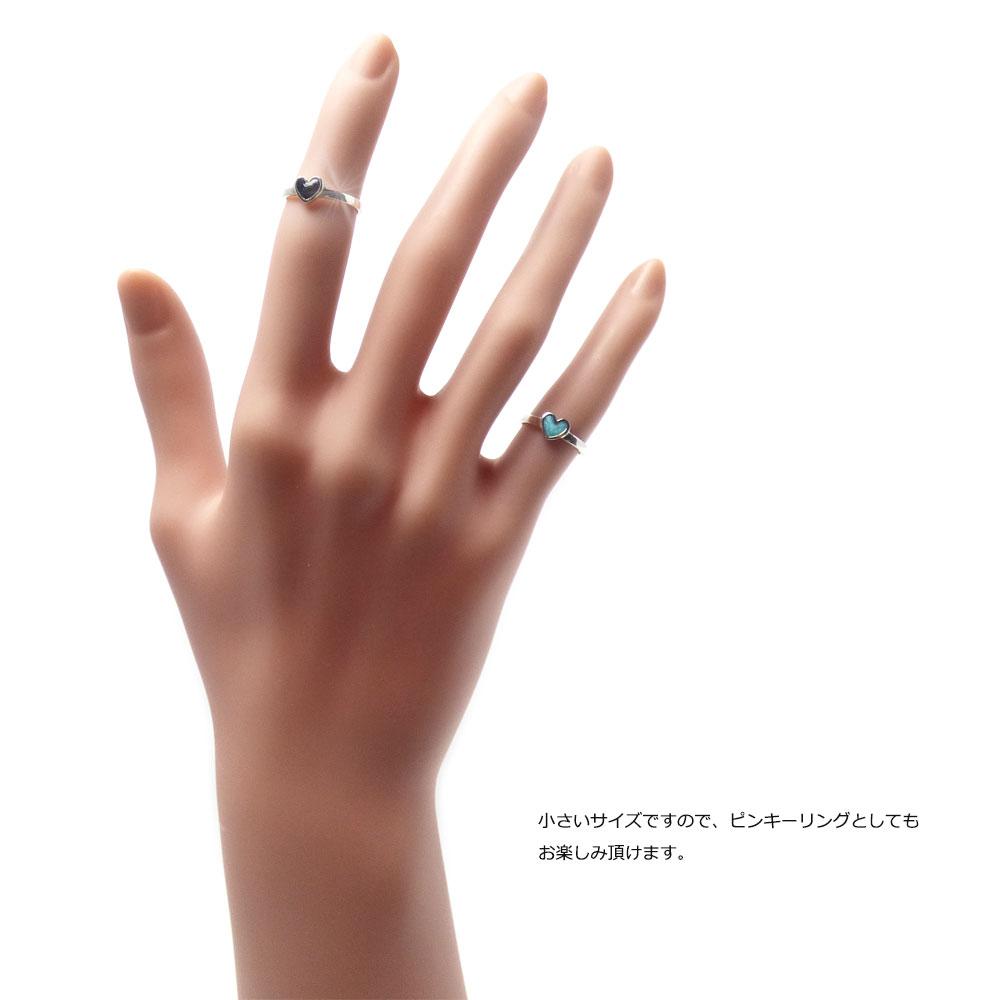エナメルハート ハイポリッシュ仕上げ シルバー925 ファランジリング(ミディリング)/トゥリング 【SILVER925/指輪】