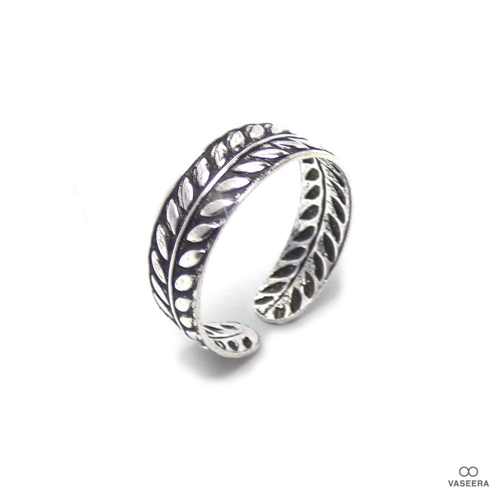 ローレルクラウン(月桂冠) シルバー925 ファランジリング(ミディリング)/トゥリング 【SILVER925/指輪】