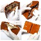 イタリアンレザー(植物タンニン鞣し牛革)  三つ折り コンパクト レザーウォレット/三つ折り財布/小さい財布