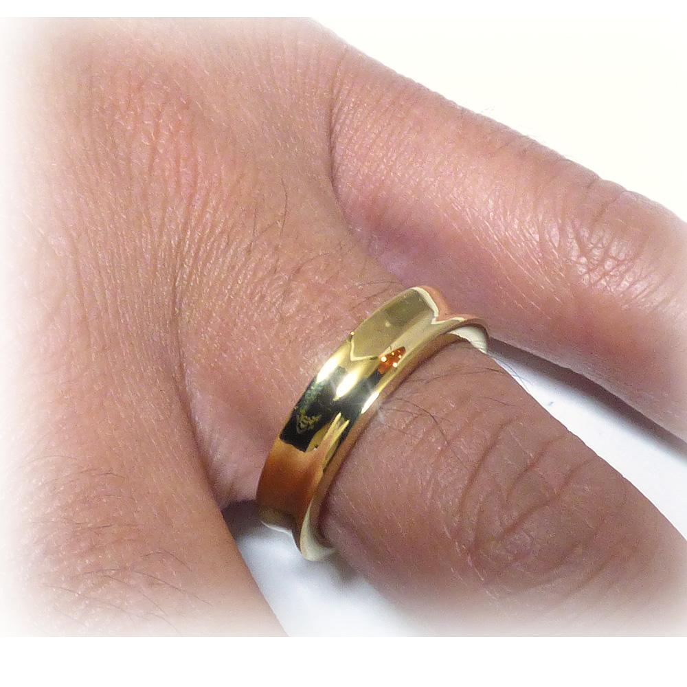 5mm幅 リバースラウンドエッジ(逆甲丸) ゴールドブラス(真鍮) リング 【GOLD BRASS /指輪】