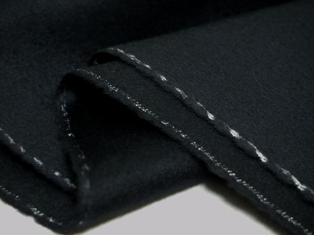 お買得 <strong>【カシミヤ/ウール無地コート】</strong><br>イタリ—製,輸入生地,<br>濃紺(黒)<br>カシミヤ35%ウール65%<br>140cm巾2.4m<br>(コート、スーツ分)<br>2111-566<br>【一点在庫あり ご注文はお早めに】
