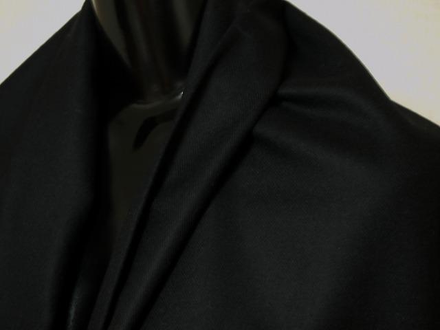 お買得 <strong>【カシミヤ/ラム】</strong><br> イタリ—製, 輸入生地,<br> 黒<br> カシミヤ8% ラムウール92%<br>  150cm巾2.5m(スーツ分)<br> 2111-649<br> 【一点在庫あり ご注文はお早めに】