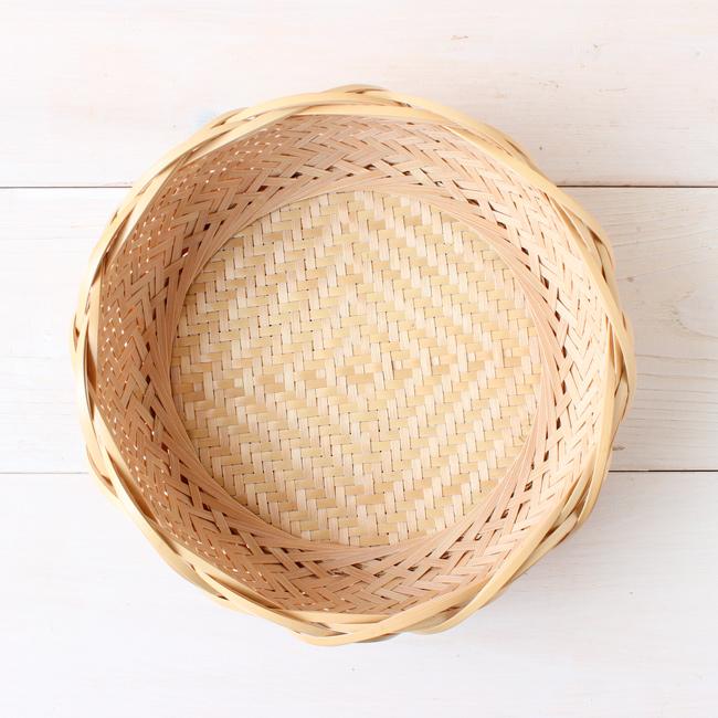輪口編み花形縁盛りかご03
