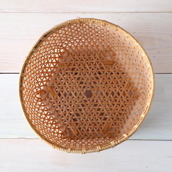 麻の葉編み盛りかご(ボックス型)04