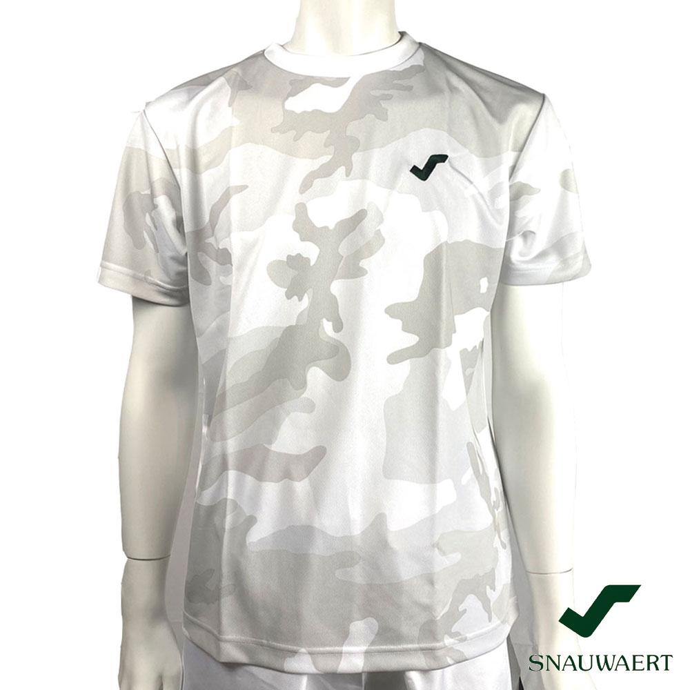 スノワート ゲームシャツ カモ柄 ワンポイント刺繍ロゴ