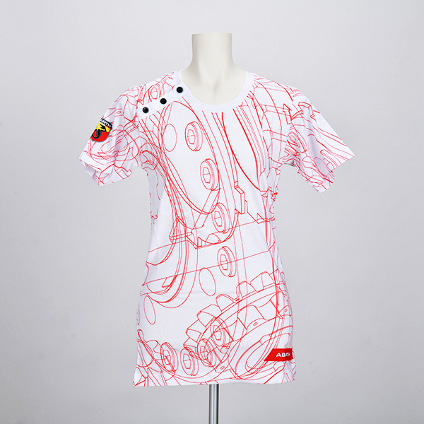 テクニカルパーツ Tシャツ(レディース)(ホワイト)(XSサイズ)