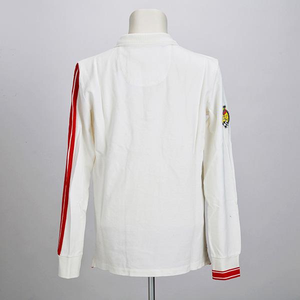 595 長袖ポロシャツ(ホワイト)(Lサイズ)