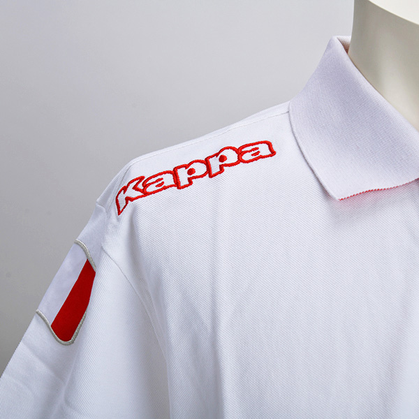 ABARTH × Kappa 2015 ポロシャツ(ホワイト)(XLサイズ)