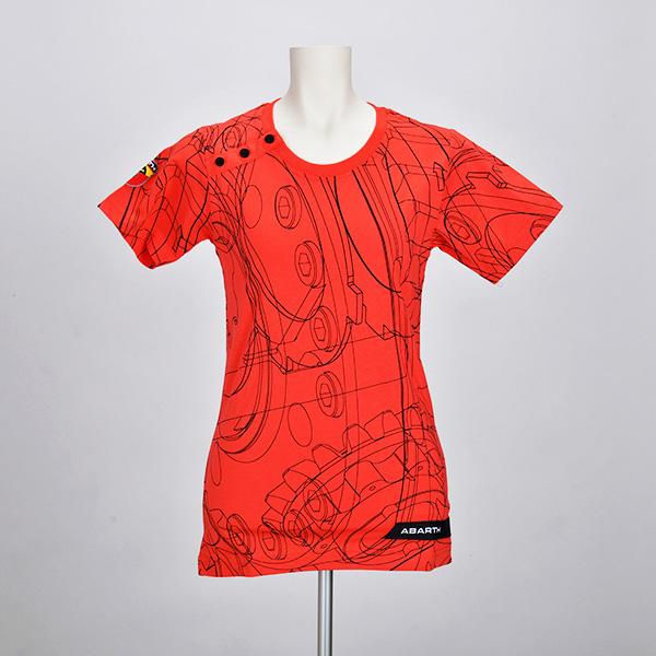 テクニカルパーツ Tシャツ(レディース)(レッド)(Mサイズ)