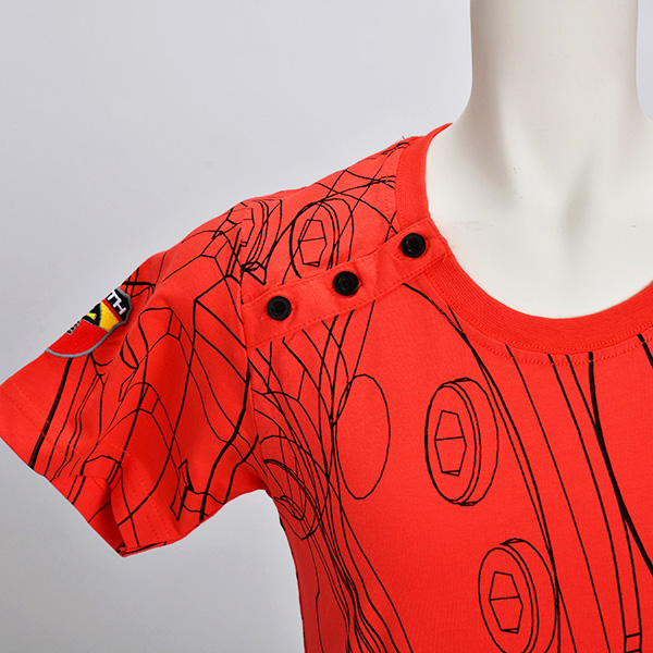 テクニカルパーツ Tシャツ(レディース)(レッド)(Lサイズ)