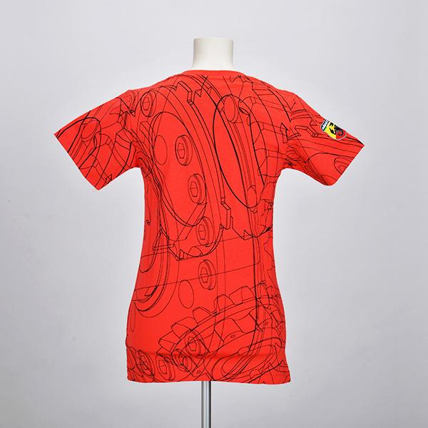 テクニカルパーツ Tシャツ(レディース)(レッド)(XLサイズ)