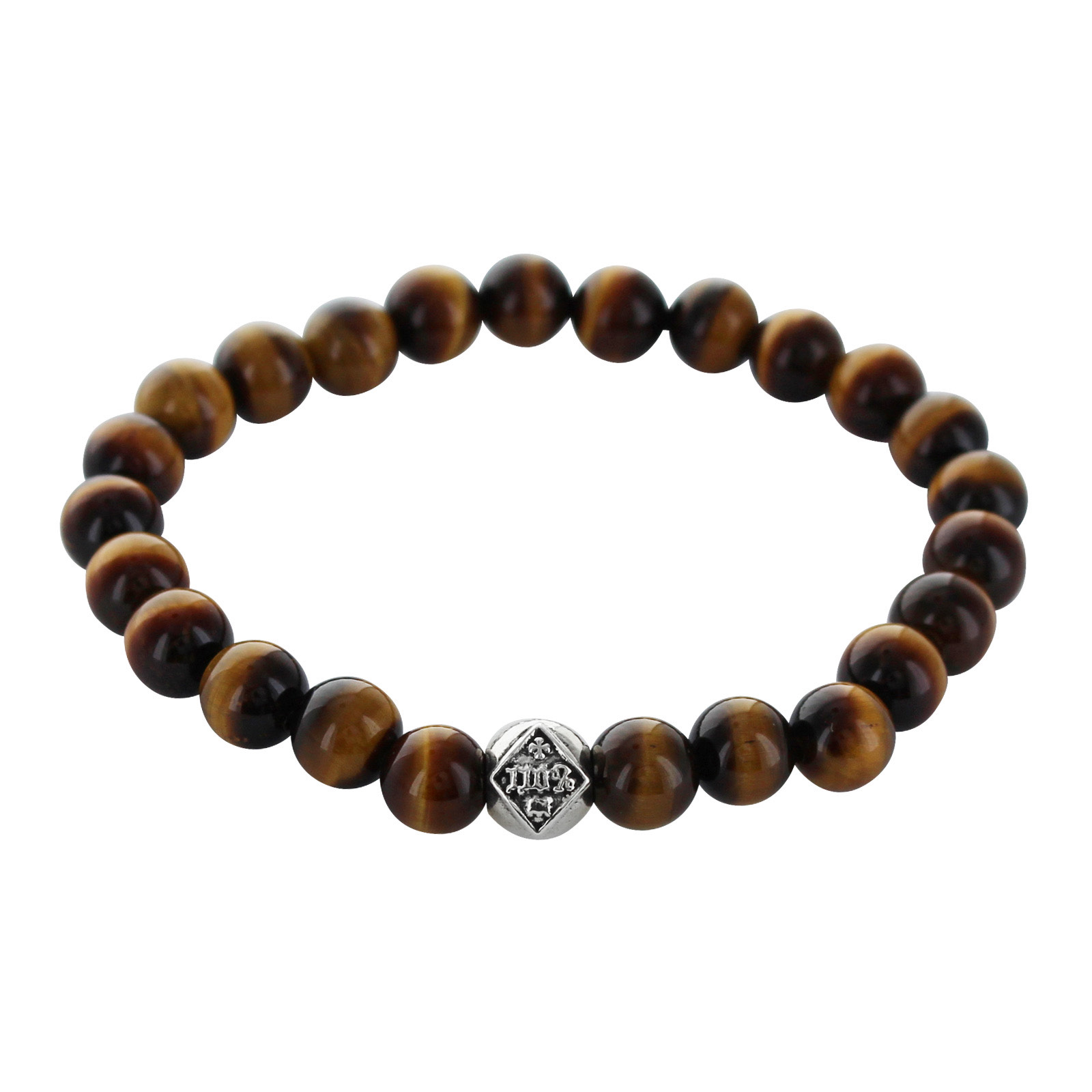 TRAVIS WALKER   STONE WITH 110% BEAD BRACELET (8mm TIGER EYE)