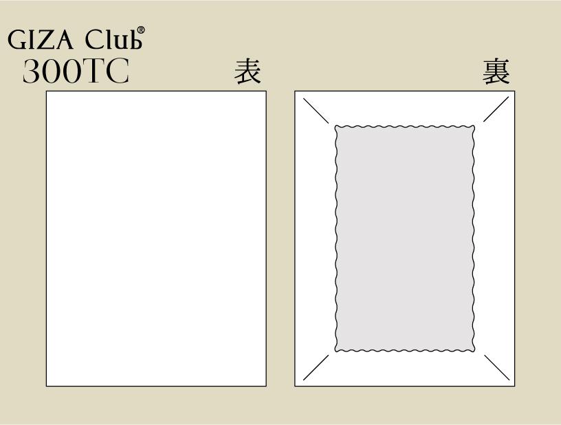 エジプト超長綿 GIZA Club 300TC ボックスシーツ