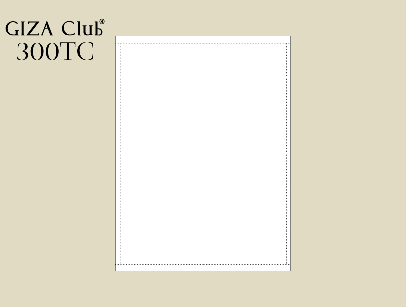 エジプト超長綿 GIZA Club 300TC フラットシーツ