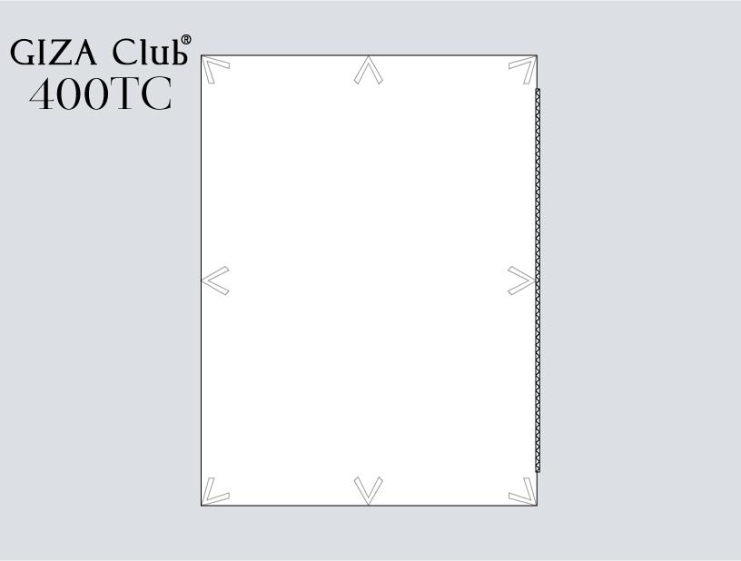 エジプト超長綿デュべカバー                   GIZAClub®    410TC