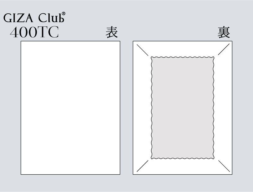 エジプト超長綿 GIZA Club 400TC ボックスシーツ
