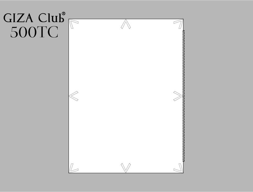 エジプト超長綿 GIZA Club 500TC デュべカバー