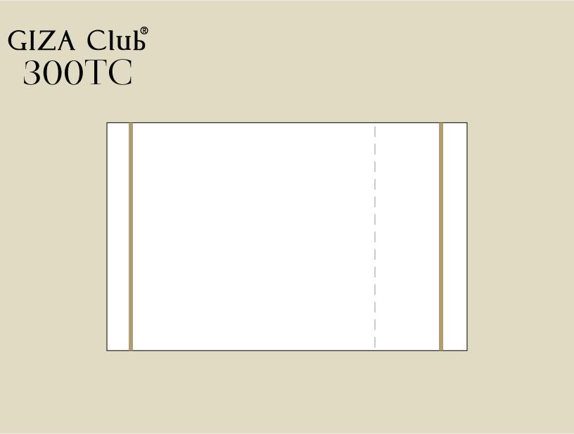 エジプト超長綿 GIZA Club 300TC ピロケース/左右額縁+刺繍